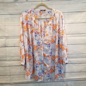 FLORAL NYDJ Blouse
